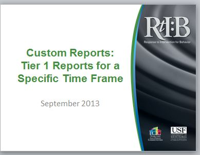 Tier 1 Custom Reports, cover image