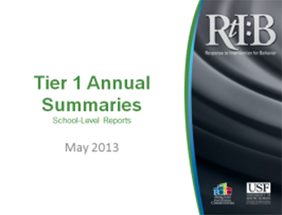 Tier 1 Annual Summaries, cover image