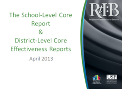 Core Report, cover image