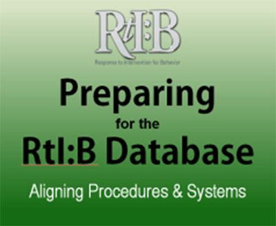Preparing for the RtI:B Database, cover image