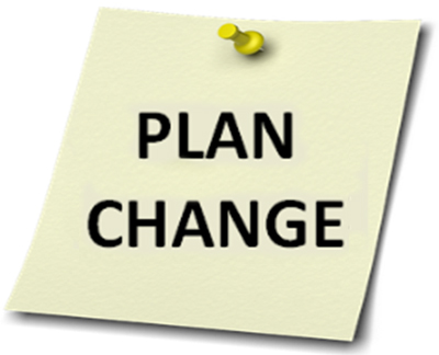"Note with ""Plan Change"""